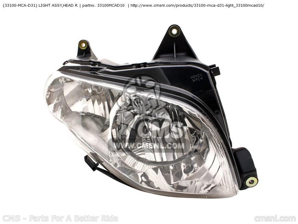 CMS シーエムエス ヘッドライト本体・ライトリム/ケース (33100-MCA-D31) LIGHT ASSY,HEAD R