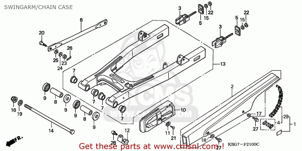 CMS シーエムエス その他エンジンパーツ (40540-KPM-305) CHAIN SET,DRIVE (