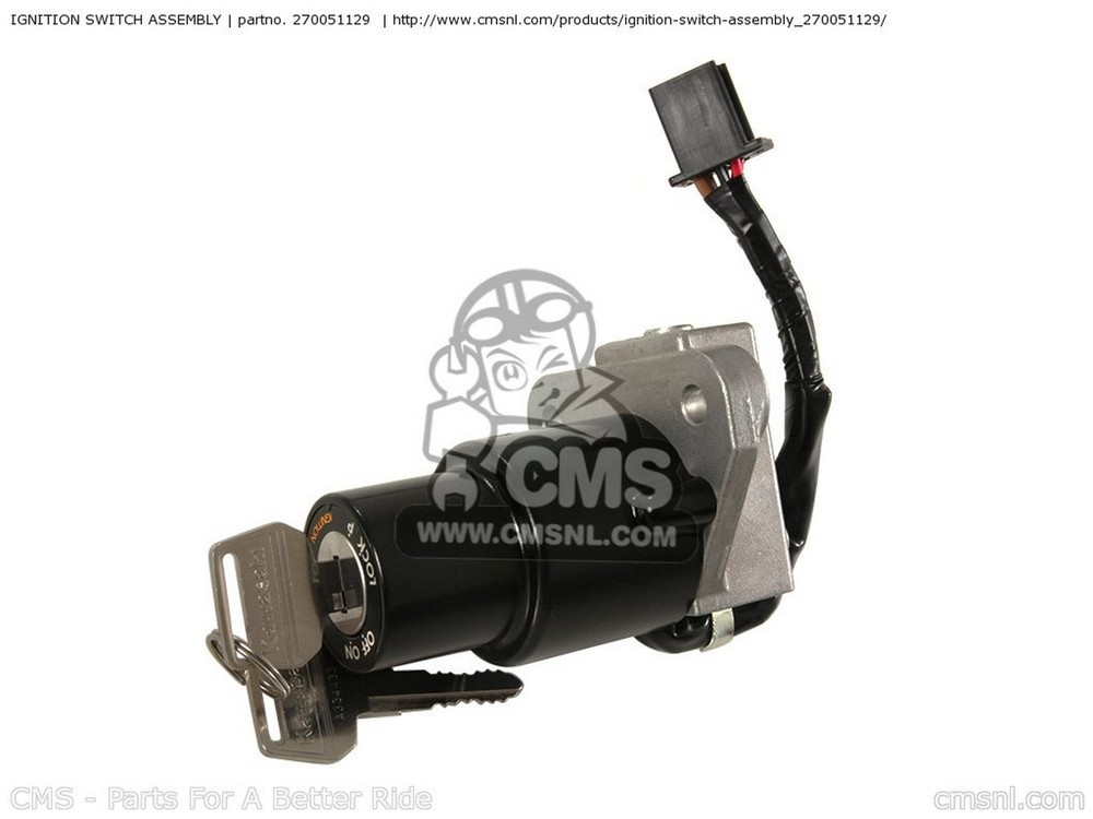 CMS シーエムエス SWITCH-ASSY-IGNITION KL650A17 KLR650 2003 USA CALIFORNIA CANADA