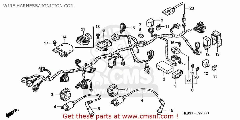 CMS シーエムエス ハーネス HARNESS WIRE CB250P 1996 (T) GENERAL EXPORT / KPH PLR