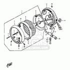 CMS シーエムエス ヘッドライト本体・ライトリム/ケース Headlamp Body,complete,flat Black Z1