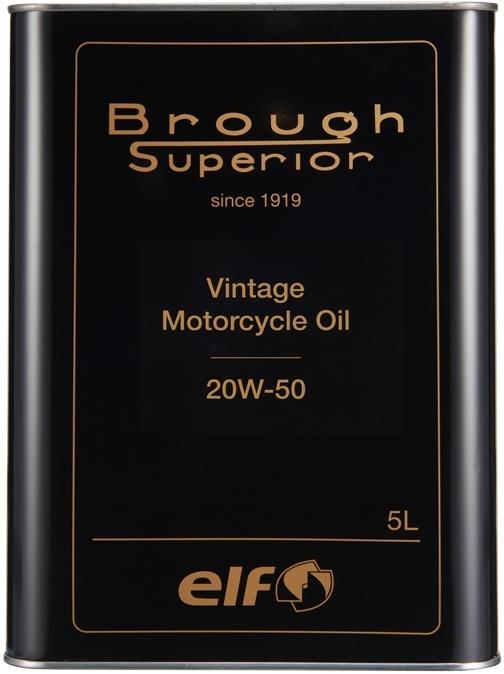 elf エルフオイル BROUGH SUPERIOR VINTAGE MOTORCYCLE OIL(ビンテージモーターサイクルオイル)【20W50】【5L】【4サイクルオイル】