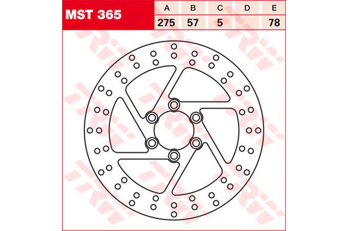 TRW ティーアールダブル BRAKE-DISCS [MST365] VS 1400 GLF Intruder [VX51L] 87-03 VS 1400 GLP Intruder [VX51L] 87-03