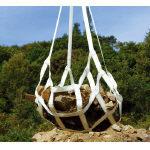 TRUSCO トラスコ中山 工業用品 ロックスリング マスク形ベルトモッコ 1800×1800 (シートなし)