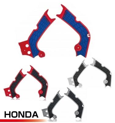 BLACK//RED 13-18 HONDA CRF250L Acerbis X-Grip Frame Guard
