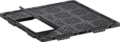 トラスコ中山 工業用品 TRUSCO TMSC型コンテナ用ステージ 扉付 1100X1100 黒