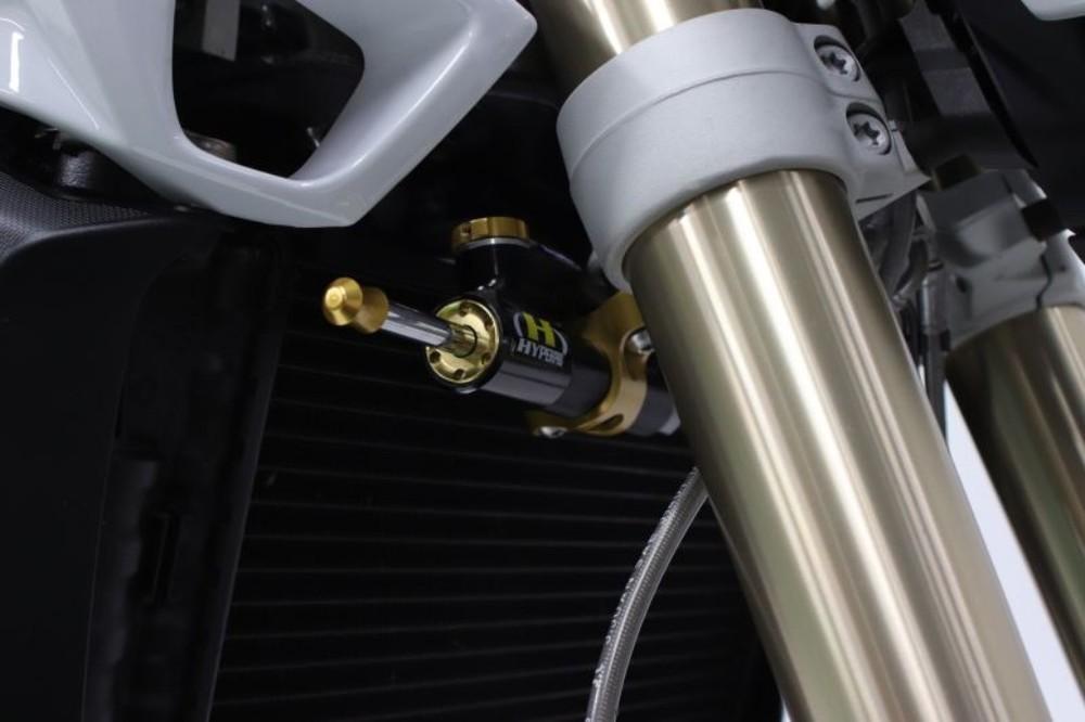 HYPERPRO ハイパープロ CNCステアリングダンパーステーセット カラー:ゴールド F800GT F800R F800S F800ST