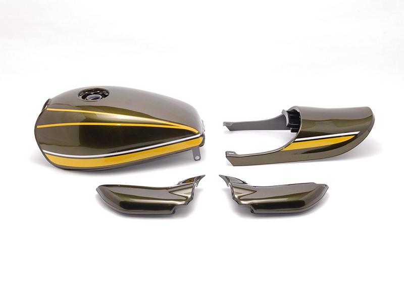 DOREMI COLLECTION ドレミコレクション フルカウル・セット外装 塗装済みスチールタンクセット タンクカラー:黄タイガー ゼファー750