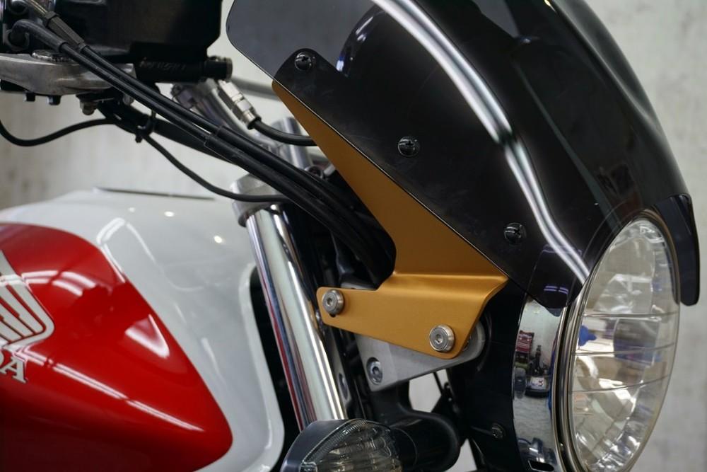 Force-Design フォルスデザイン スクリーン ウインドシールド カラー:マットゴールド CB1300スーパーフォア