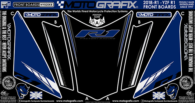 【ポイント5倍開催中!!】MOTOGRAFIX モトグラフィックス ステッカー・デカール ボディーパッド カラー:ブラック/グレー、ホワイト、ブルー、メタリックシルバー(KB) YZF-R1