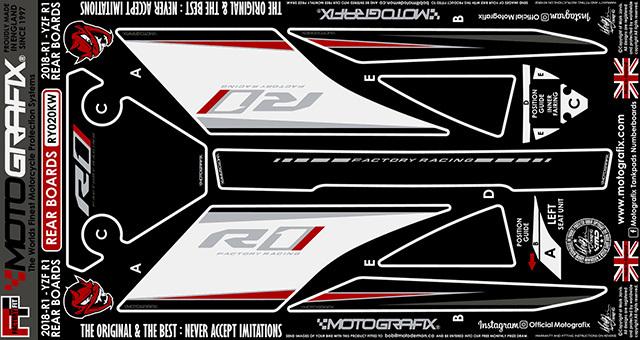 【ポイント5倍開催中!!】MOTOGRAFIX モトグラフィックス ステッカー・デカール ボディーパッド カラー:ブラック/グレー、ホワイト、レッド、メタリックシルバー(KW) YZF-R1