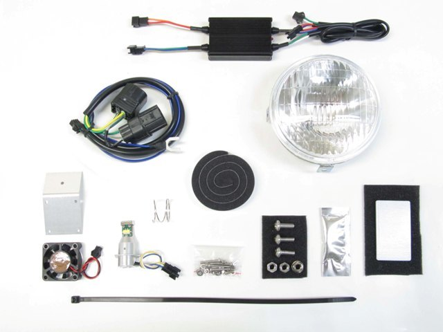 PROTEC プロテック ヘッドライト本体・ライトリム/ケース LEDクラシカルヘッドライト 色温度:6000K クロスカブ50
