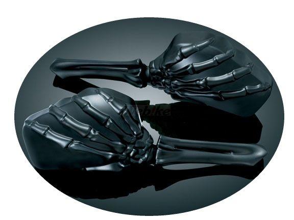 【ポイント5倍開催中!!】【クーポンが使える!】 Kuryakyn クリアキン ミラー類 スケルトンハンド・ミラー(オールブラック) DYNA [ダイナ] SOFTAIL [ソフテイル] SPORTSTER [スポーツスター] TOURING [ツーリング] V-ROD [Vロッド] 汎用