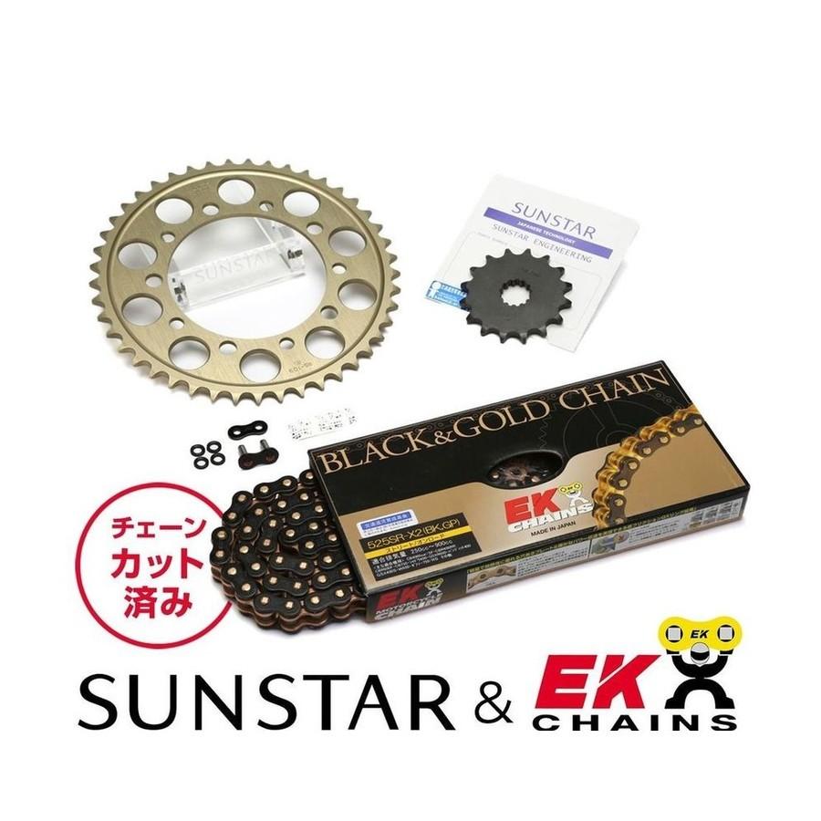 SUNSTAR サンスター フロント・リアスプロケット&チェーン・カシメジョイントセット MT-09 MT-09 TRACER XSR900