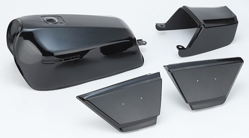 CHERRY チェリー フルカウル・セット外装 リプレイス外装セット カラー:ブラック Z400FX/Z400J