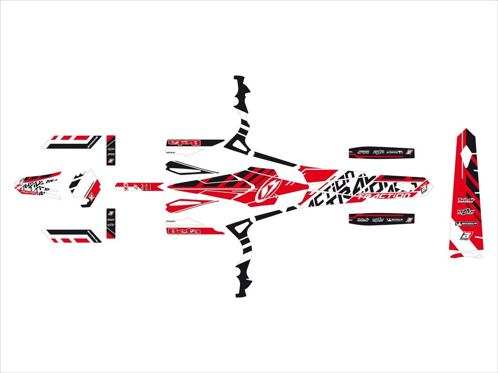 Blackbird Racing ブラックバードレーシング ステッカー・デカール トラクションステッカー キット【TRACTION STICKERS KIT】 EVO 09-12