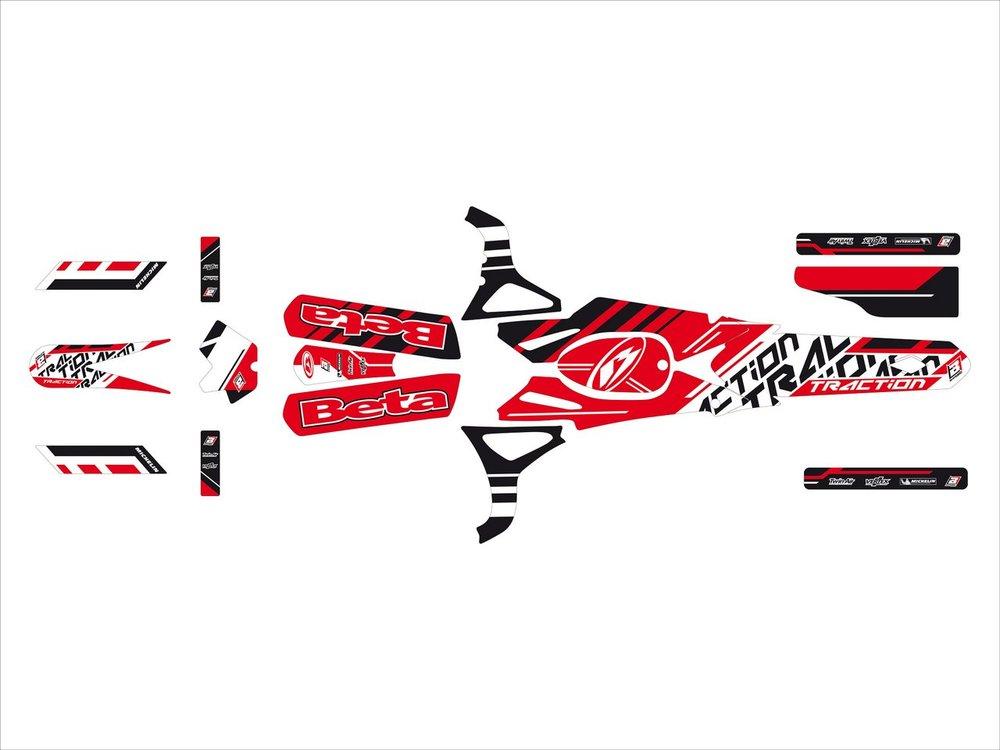 Blackbird Racing ブラックバードレーシング ステッカー・デカール トラクションステッカー キット【TRACTION STICKERS KIT】 REV3 03-06