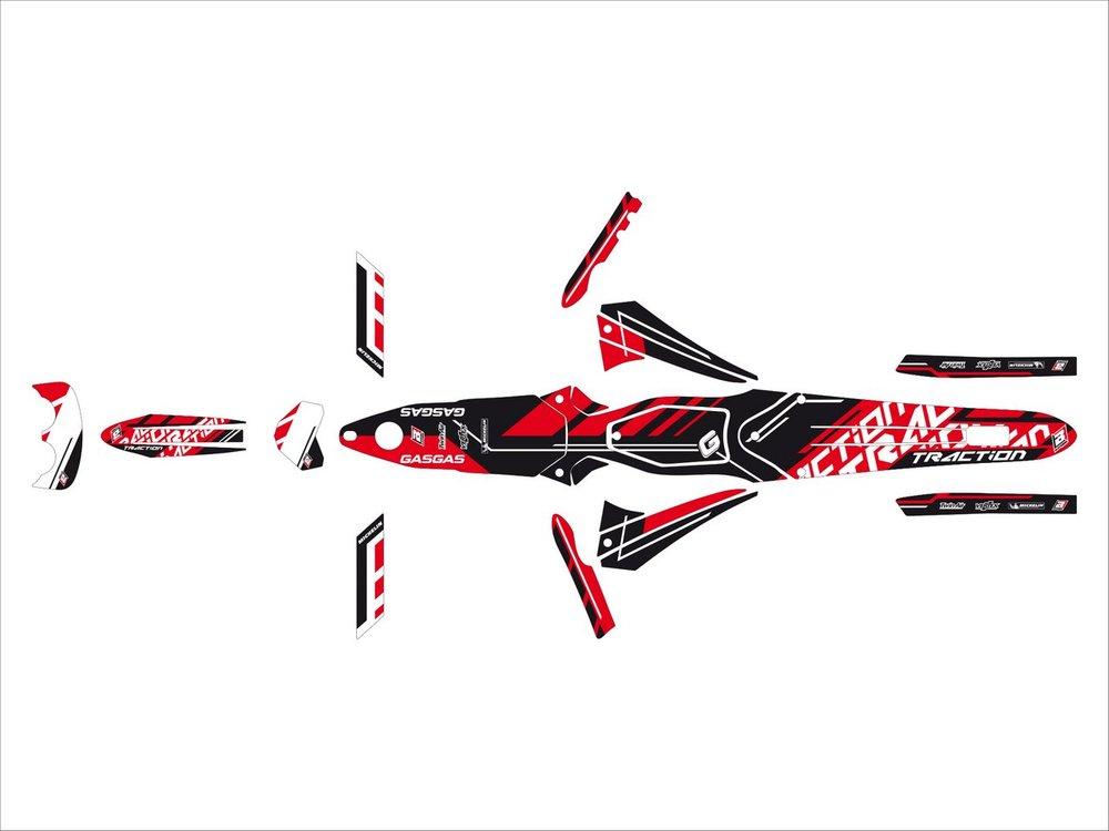 Blackbird Racing ブラックバードレーシング ステッカー・デカール トラクションステッカー キット【TRACTION STICKERS KIT】 TXT PRO 11-15