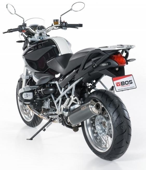BOS ボス スリップオンマフラー OVAL 120 スリップオンサイレンサー タイプ:ブラックエディション R1200R