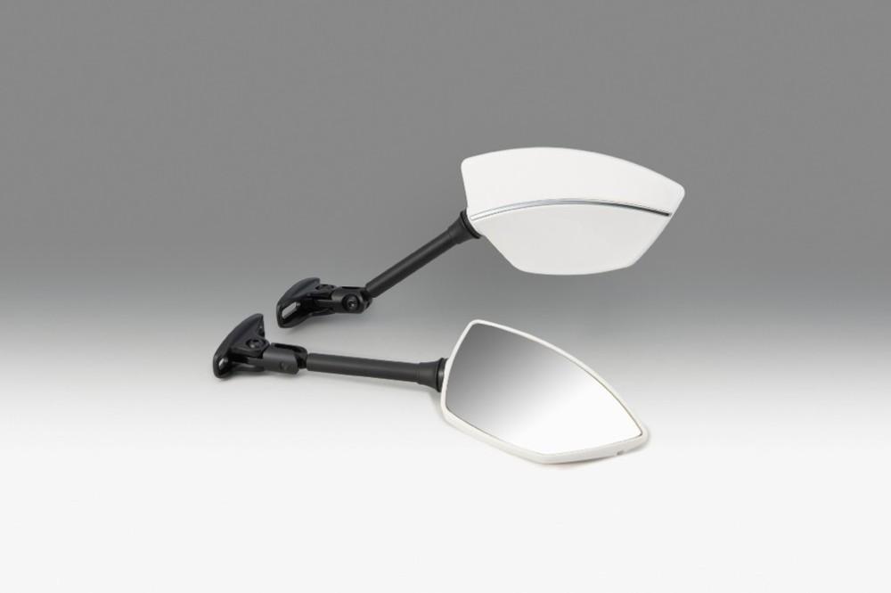 KIJIMA キジマ ミラー類 ミラー TECH08 カウルマウント カラー:ホワイト