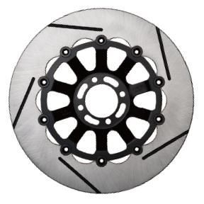 SUNSTAR サンスター TRAD TYPE2 [トラッドタイプ2] フロントディスクローター フローティングタイプ:セミフローティング フローティングピンカラー:ブラック 左用
