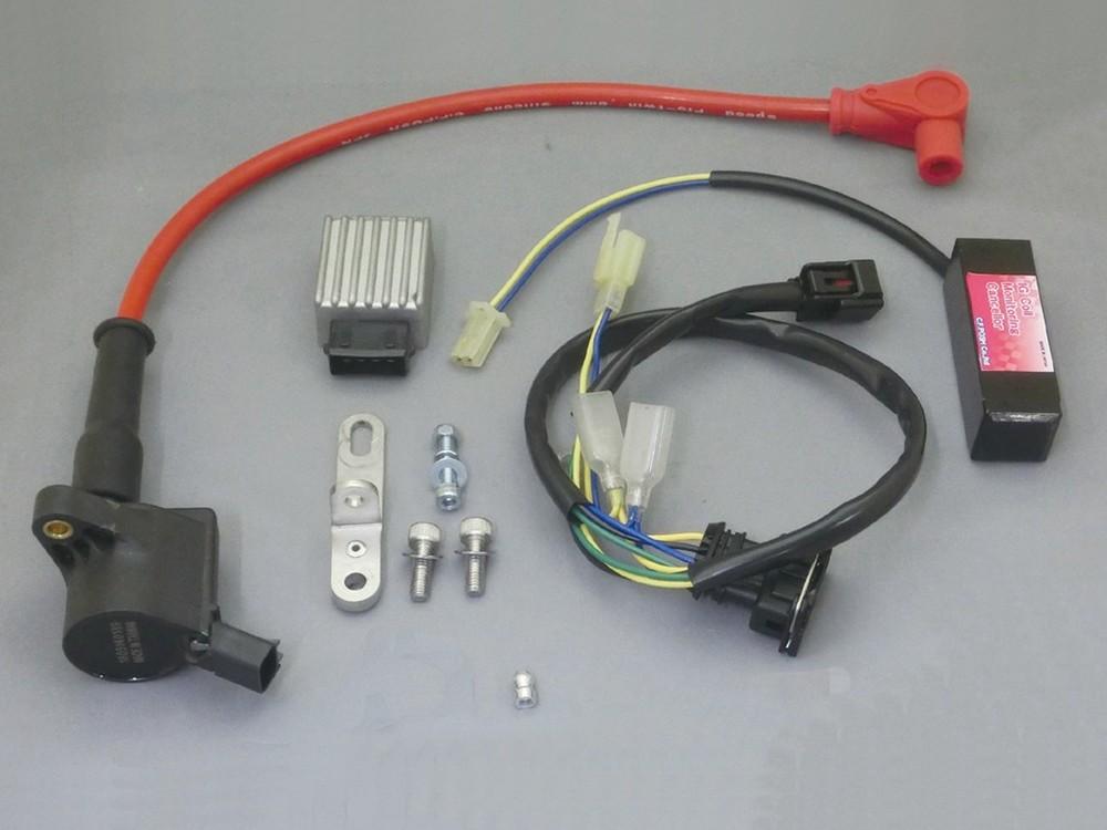 CF POSH CF ポッシュ イグニッションコイル・ポイント・イグナイター関連 スーパーIGコイルキット カラー(プラグコード、プラグキャップ):レッド モンキー125