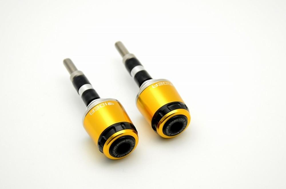 RIDEA リデア ハンドルバーエンド ミドルタイプ カラー:ゴールド ハンドル内径15.5-18mm用