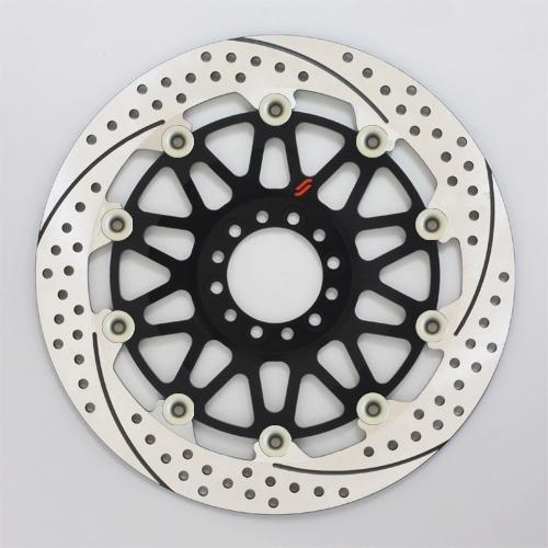 SUNSTAR サンスター PREMIUM RACING [プレミアムレーシング] フロントディスクローター アウターローター:ホール/スリットタイプ フローティングタイプ:セミフローティング フローティングピンカラー:ハードアルマイト 左用