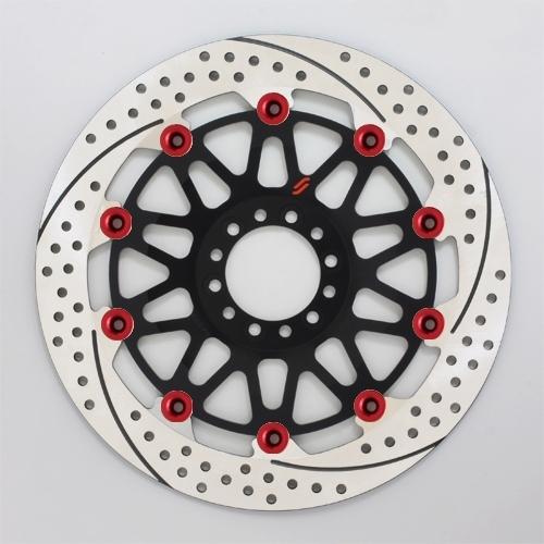 SUNSTAR サンスター PREMIUM RACING [プレミアムレーシング] フロントディスクローター アウターローター:ホール/スリットタイプ フローティングタイプ:フルフローティング フローティングピンカラー:レッド 右用