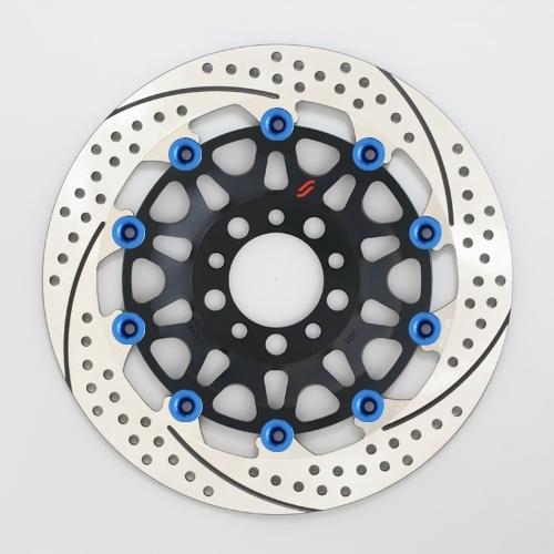 【イベント開催中!】 SUNSTAR サンスター PREMIUM RACING [プレミアムレーシング] フロントディスクローター アウターローター:ホール/スリットタイプ フローティングタイプ:セミフローティング フローティングピンカラー:ブルー 左用 GPZ900R