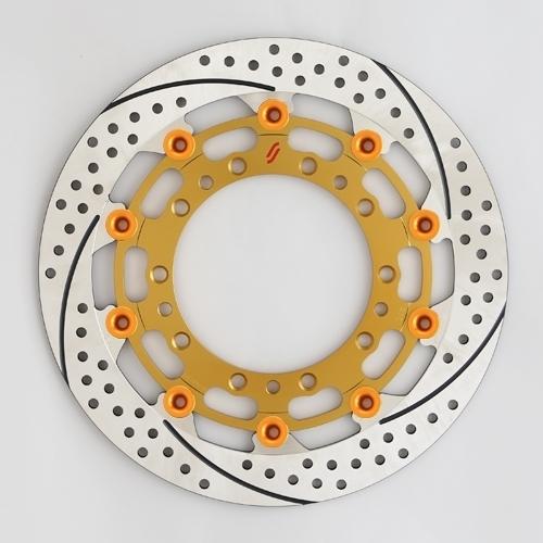 【イベント開催中!】 SUNSTAR サンスター PREMIUM RACING [プレミアムレーシング] フロントディスクローター アウターローター:ホール/スリットタイプ フローティングピンカラー:オレンジ 左用 MT-03 (-2009) YZF-R1 YZF-R6