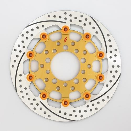 【イベント開催中!】 SUNSTAR サンスター PREMIUM RACING [プレミアムレーシング] フロントディスクローター アウターローター:ホール/スリットタイプ フローティングピンカラー:オレンジ 右用 ニンジャ1000 (Z1000SX)