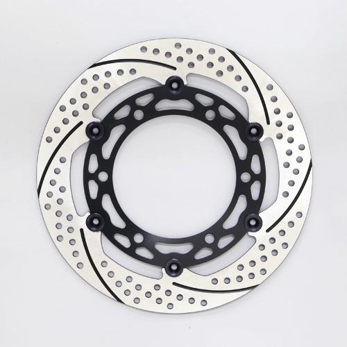 サンスター PREMIUM RACING [プレミアムレーシング] フロントディスクローター アウターローター:ホール/スリットタイプ インナーローター:メッシュタイプ フローティングタイプ:フルフローティング フローティングピンカラー:ブラック