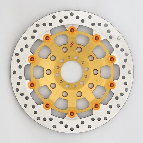 SUNSTAR サンスター PREMIUM RACING [プレミアムレーシング] フロントディスクローター アウターローター:ホールタイプ フローティングピンカラー:オレンジ 左用 CB1000スーパーフォア(ビッグワン) VFR750R