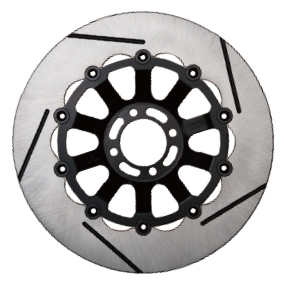 SUNSTAR サンスター TRAD TYPE2 [トラッドタイプ2] フロントディスクローター フローティングタイプ:フルフローティング フローティングピンカラー:ハードアルマイト 右用