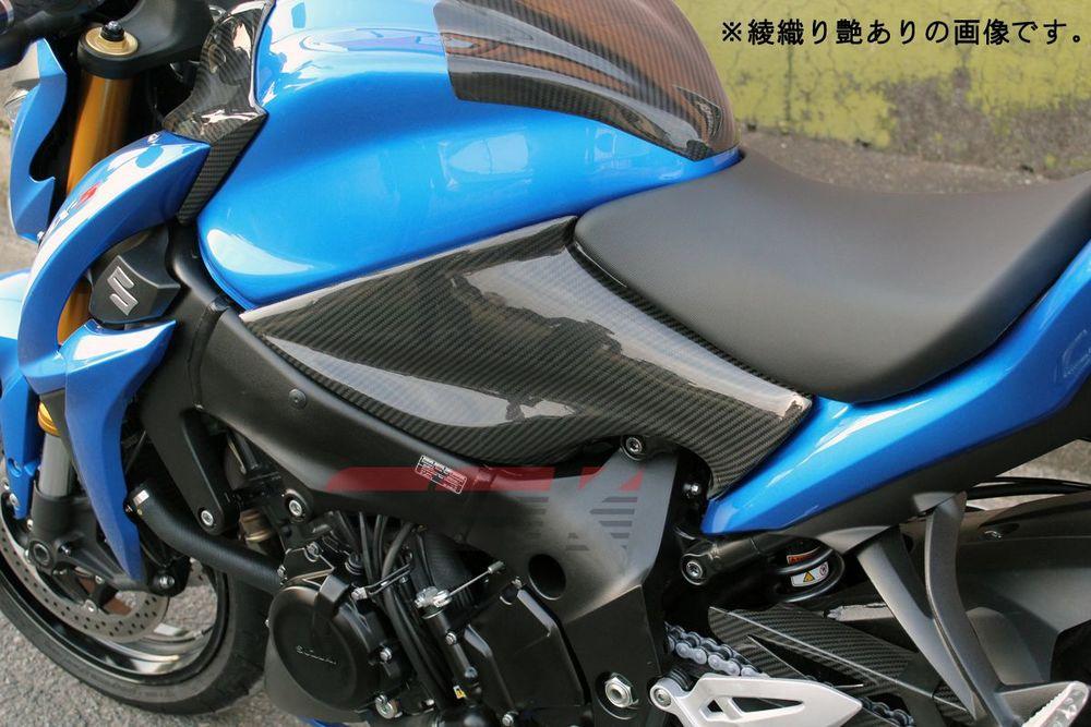 SSK:スピードラ エスエスケー:スピードラ タンクサイドカバー 左右セット ドライカーボン GSX-S1000F GSX-S1000