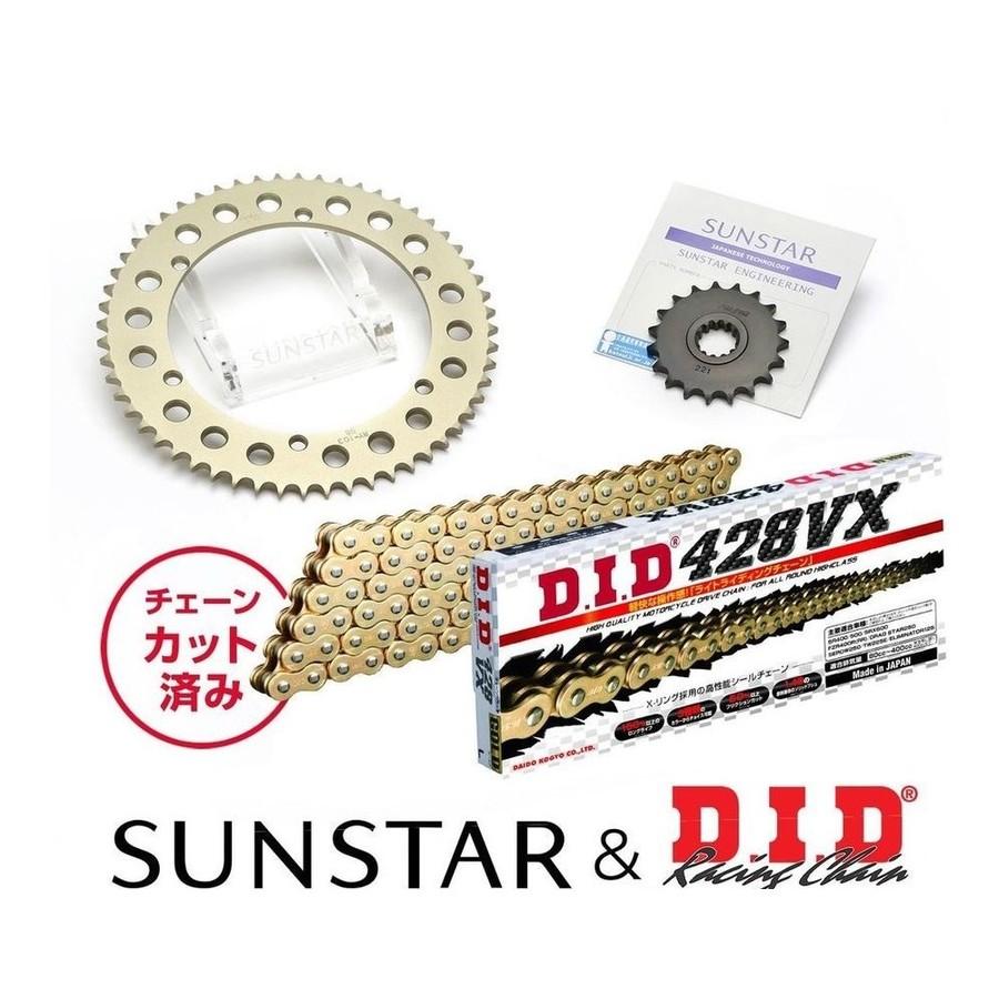 SUNSTAR サンスター フロント・リアスプロケット&チェーン・カシメジョイントセット SRX400