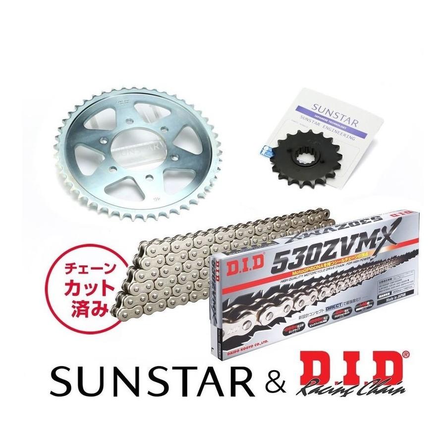 SUNSTAR サンスター フロント・リアスプロケット&チェーン・カシメジョイントセット YZF-R1