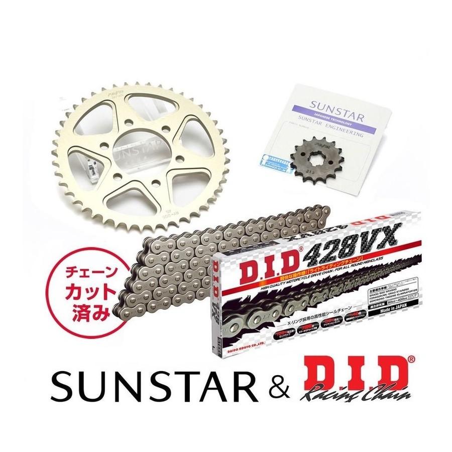 SUNSTAR サンスター フロント・リアスプロケット&チェーン・カシメジョイントセット XLR250 XLR250バハ