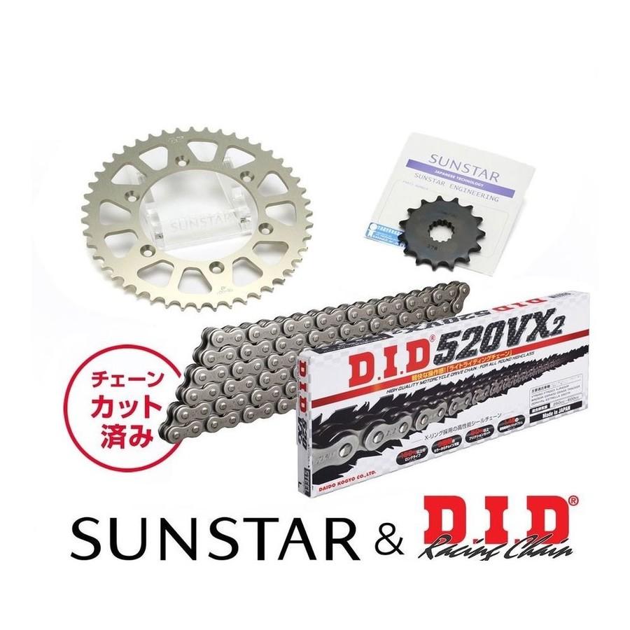 SUNSTAR サンスター フロント・リアスプロケット&チェーン・カシメジョイントセット XR250