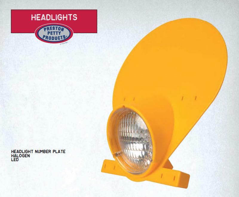 PRESTON PETTY プレストンペティ ヘッドライト本体・ライトリム/ケース Headlight Number Plate with Halogen Bulb カラー:dark yellow