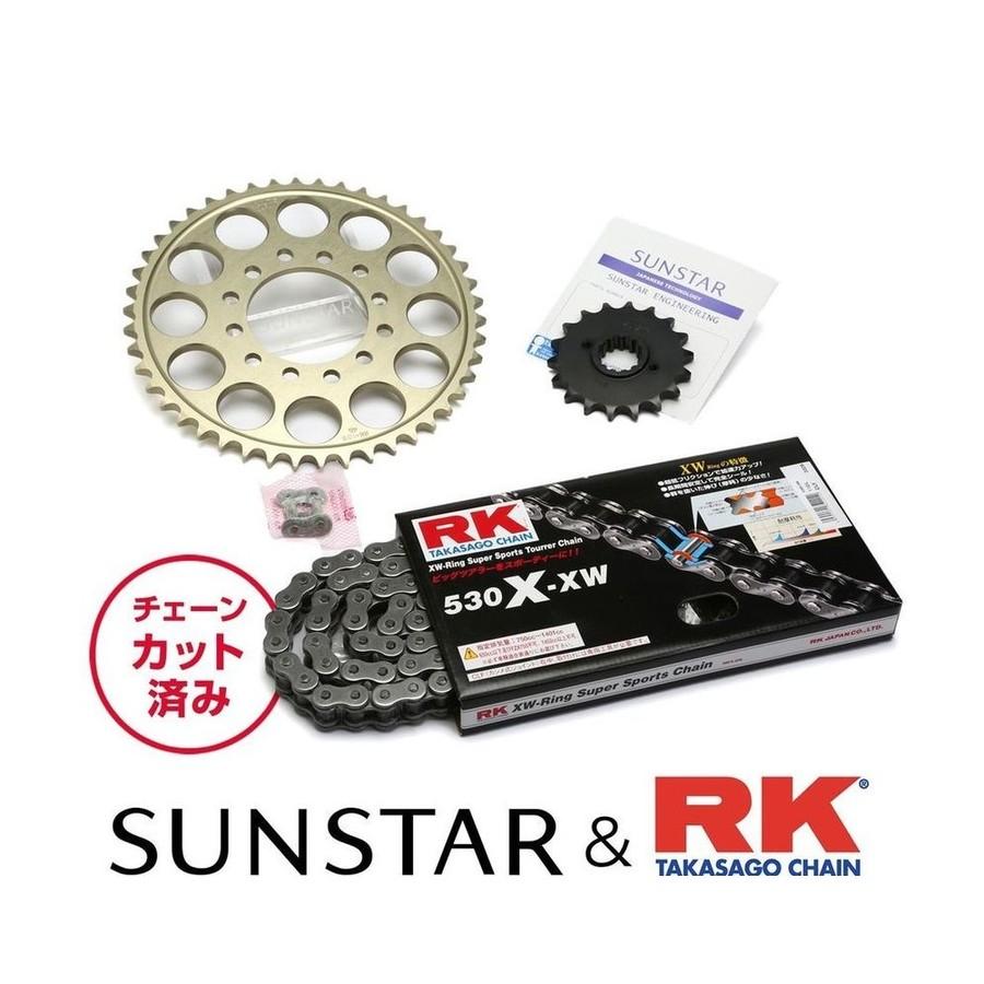 SUNSTAR サンスター フロント・リアスプロケット&チェーン・カシメジョイントセット GS1200SS
