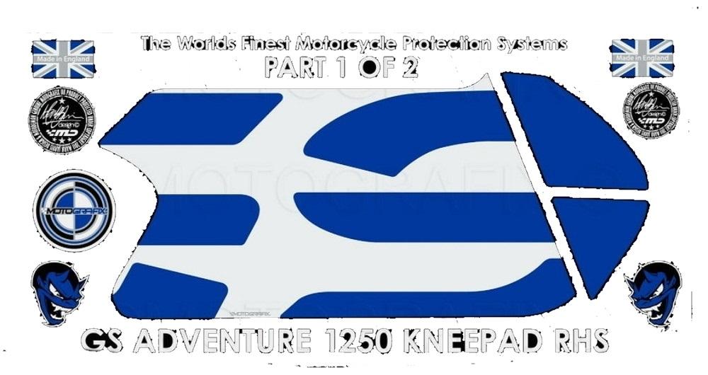 【ポイント5倍開催中!!】MOTOGRAFIX モトグラフィックス ステッカー・デカール ボディーパッド 貼り付け位置:右側 R1250GS Adventure