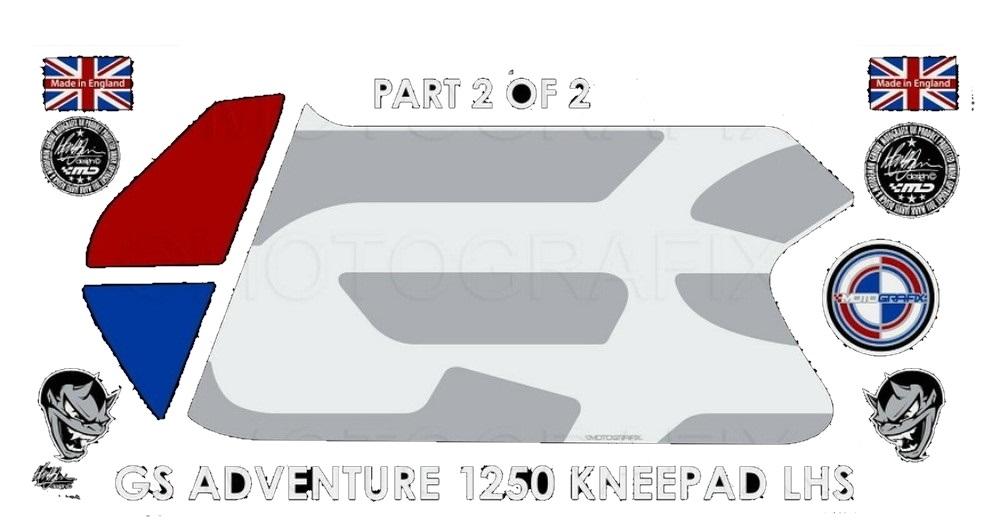【ポイント5倍開催中!!】MOTOGRAFIX モトグラフィックス ステッカー・デカール ボディーパッド 貼り付け位置:左側 R1250GS Adventure