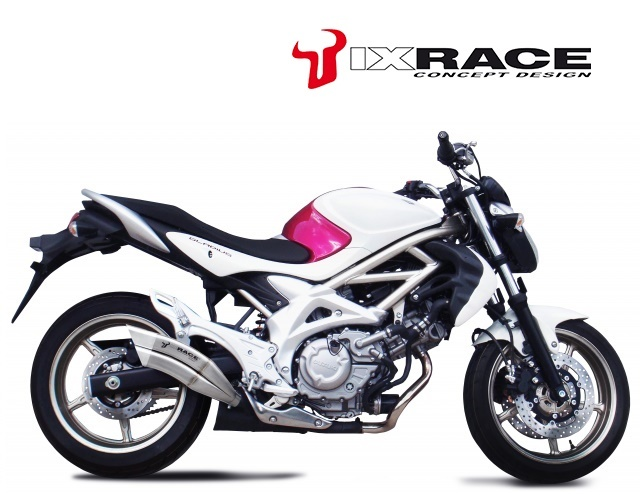 IXRACE アイエックスレース ツインアップ スリップオンマフラー SFV 650 GLADIUS