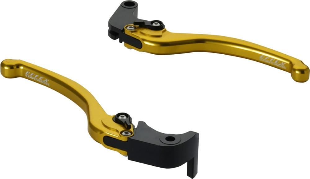 EFFEX エフェックス スムースフィットレバー カラー:ゴールドアルマイト GSX-R1000 GSX-R600 GSX-R750 GSX-S1000 GSX-S1000F