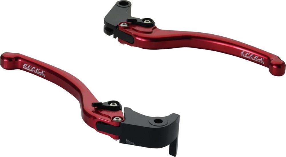 EFFEX エフェックス スムースフィットレバー カラー:レッドアルマイト GSX-R1000 GSX-R600 GSX-R750 GSX-S1000 GSX-S1000F