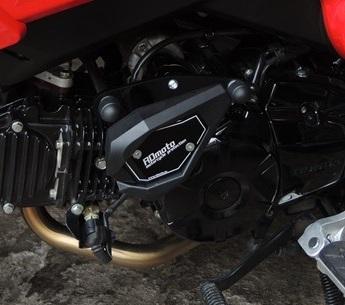 RDmoto アールディーモト ガード・スライダー Crash sliders Base Color:black polyamid Color:black aluminium anodized MSX125