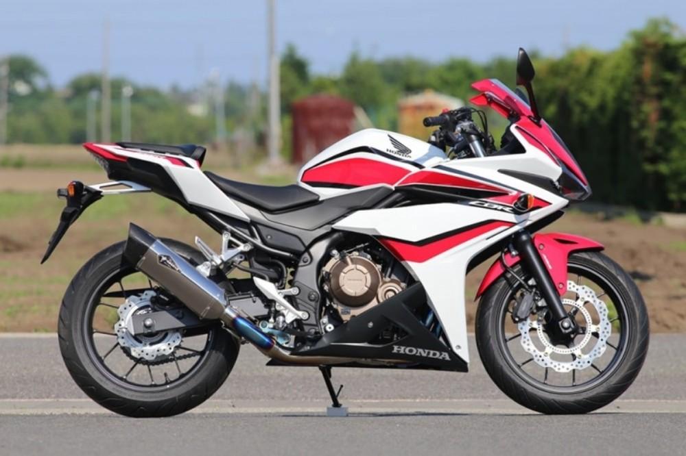 r's gear アールズギア リアルスペック シングルタイプ Sマフラー CBR400R