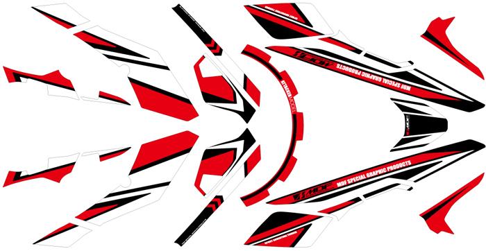 MDF エムディーエフ ステッカー・デカール 専用グラフィックキット アタッカーモデル カラー:レッド タイプ:コンプリートセット V-Strom 250